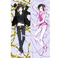 Durarara Dakimakura Izaya Orihara Anime Boy Male Hugging Pillow Case Cover