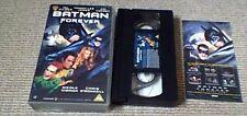 BATMAN FOREVER UK PAL VHS VIDEO 1995 Val Kilmer Jim Carrey Nicole Kidman