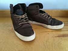 VANS OTW Collection Men's Brown Leather Hi Top Shoes Size 7.5/40 Pre Owned