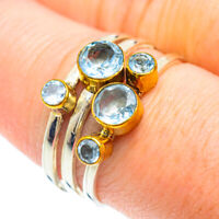 Blue Topaz Copper 925 Sterling Silver Ring Size 8.75 Ana Co Jewelry R51005F