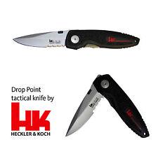 Taktisches Messer Heckler und Koch Drop Point Linerlock Clip Klinge aus X-15T.N.