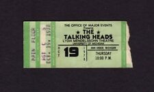 1978 Talking Heads Concert Ticket Stub Ann Arbor Byrne Take Me To The River