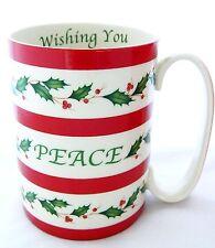 Lenox Christmas Holiday Mug Wishing You Peace Tea Cocoa Egg Nog 12oz NIB