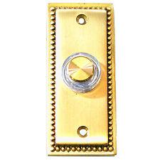 Friedland iluminado con Cable de latón macizo Puerta Campana Timbre Pulsador 15776 prensa