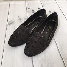 Rock & Republic Shoes Women's Size 10 M Black Glenn Studded Slip on Flats.