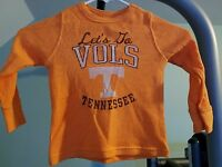 Tennessee Volunteers Toddler Long-Sleeve Thermal Shirts LETS GO VOLS Brand New