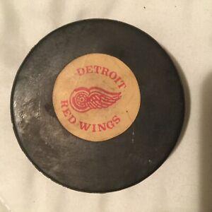 NHL Detroit RedWings Converse vintage game puck, 1970's, screened reverse, rare