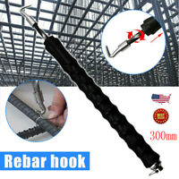 300mm Rebar Hook Tie Wire Twister Automatic Concrete Metal Twisting Fence Tool