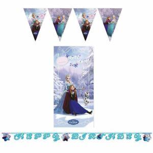 Disney Frozen Party 3 Banner Pack - Birthday Banner, Door Banner and Flag Banner