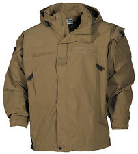 US PCU Combat Outdoor Soft Shell Veste Jacket Army USMC Coyote Tan Level 5 Taille L