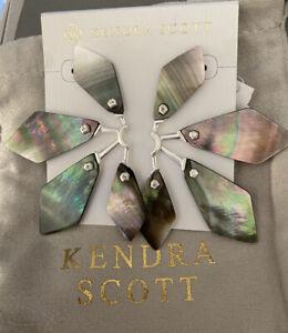 Kendra Scott Malika Statement Earrings in Black Pearl $128.00
