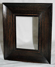 """c1900 Mission Arts and Crafts small antique frame, solid oak, ebonized edge, 9"""""""