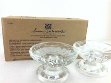 Home Interiors 11688 Clear Decorative Candleholders Set of 2