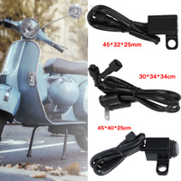Electric Motorcycle Bicycle Aluminum Light Rear View Mirror Waterproof Switch