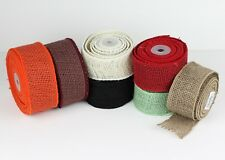 "2"" Wired Edge Burlap Ribbon - 10 Yard Roll"