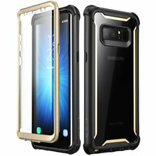 Samsung Galaxy Note 8 Case Military Tough Dual Layer Gold Screen Protector Cover