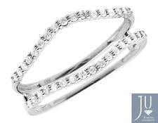 14K White Gold Diamond Guard Wedding Engagement Jacket Ring Wrap Enhancer 0.25ct