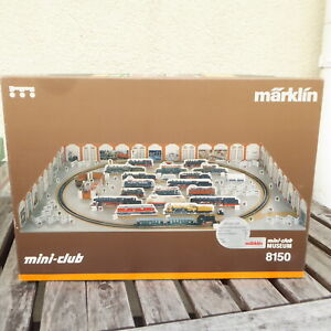 """Märklin 8150 Z Starter Set """"Mini Club MUSEUM"""" Z Mini Club neuwertig mit Lok, OVP"""