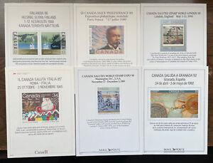 Six Canada Stamp Show Souvenir Cards