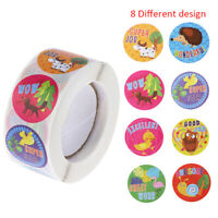 500pcs/roll cute cartoon animals stickers teacher encouragement reward NFXJ*u