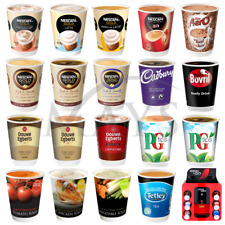 More details for 120 kenco 2 go nescafe and & go 12oz incup hot drink soup sleeve for &go machine