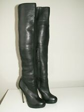 TOPSHOP 'barley2' over the knee thigh high leather boots uk 5 eu 38 us 7.5