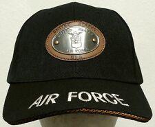 U.S. AIR FORCE USAF WINGS BRONZE METAL PATCH INSIGNIA LOGO EMBLEM CAP HAT BLACK