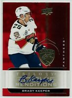 2019-20 UD Trilogy Rookie Renditions Auto Brady Keeper SP Florida Panthers RR-4