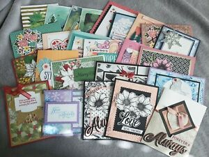 Lot of 25 Stampin' Up! Demonstrator Quality Hand Stamped Cards Lot 5