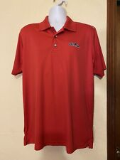 Ole Miss Mens Golf Polo Knight Apparel Red L 100% Polyester