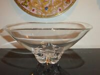 "Steuben Crystal Art Glass Trillium Bowl by Donald Pollard 10"""