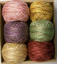 Valdani Perle Cotton size 12 Carried Away Wool Gather- Designer: Carrie Golias