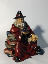 """Myths & Legends Wizard Magican Fantasy Statue W/ Crystal Ball """"New Hand Painted"""""""