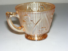 1 Depression Glass Replacement Cup Jeanette IRIS HERRINGBONE Marigold Teacup C13