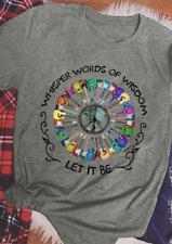 Hippie Whisper Word Of Wisdom Let it Be Color Guitar Men T Shirt Sport Grey