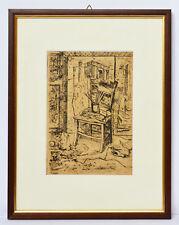 Radierung Cainelli Atelier Künstleratelier 1949 Sammlung Karl Schott 35 x 28 cm