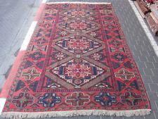 Original Antique Caucasian Wool Carpet Rug Sumac Hand Woven 316x209-cm