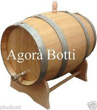 Barile in ROVERE 15 litri con rubinetto di acciaio inox!!!