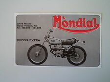 advertising Pubblicità 1976 MOTO MONDIAL CROSS EXTRA