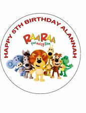 7.5 RARA THE NOISY LION EDIBLE ICING BIRTHDAY CAKE TOPPER