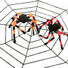 Halloween Cobweb Terror Party Decoration Bar Haunted House Halloween Spiders TRF