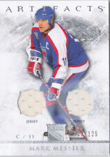 12-13 Artifacts Mark Messier /125 Dual Jersey SILVER NY Rangers 2012