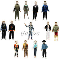 Barwa 5 Sets Casual Suites & Pants Clothes for Barbie Boy Friend Doll