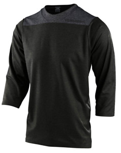 TROY LEE DESIGNS MENS DARK OLIVE RUCKUS SOLID 3/4 SLEEVE MTB JERSEY S M L XL 2X