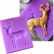 Silicone Sugar Chocolate Mold Fondant Mould Cake Decor 3D Buck Deer Elk Shape