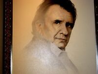 JOHNNY CASH PAINTING by GARY SADERUP