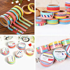 3 Rolls Paper Sticky Adhesive Sticker Decorative Scrapbooking Washi Tapes 5M