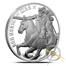 Red Horse of War 1 oz Silver BU Round ~ Four Horsemen of the Apocalypse ~ Part2