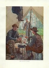 Early 1900s Antique Forest Hunting Print ~ Game Always in Season  w Warden