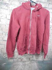 Nike Women Classic Fleece Full Zip Hoodie Jacket Maroon 586640 678 Sz M